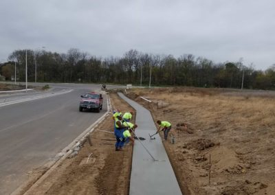 New sidewalk pour by Crabtree Contracting Kansas City